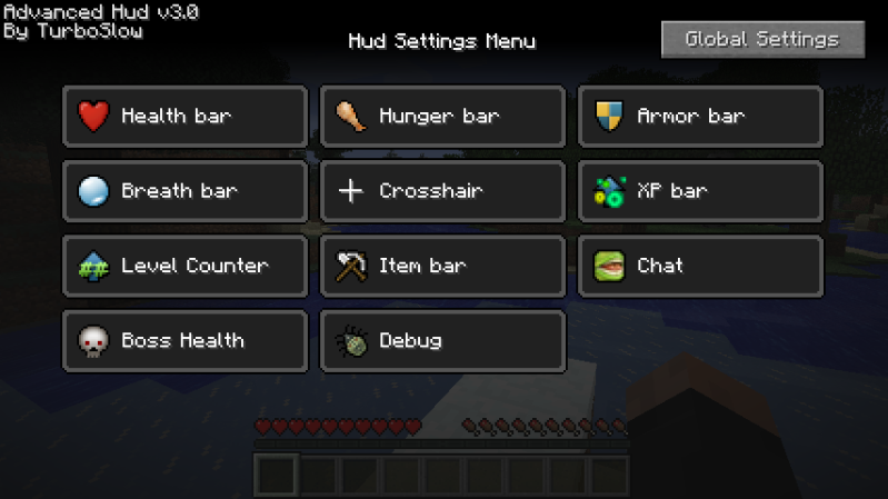 [1.6.4] Advanced HUD Mod Download
