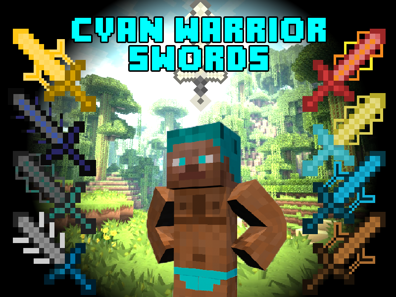 [1.6.4] Cyan Warrior Swords Mod Download
