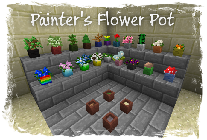 [1.6.4] Painter's Flower Pot Mod Download