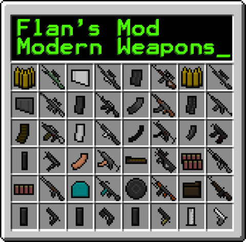 [1.6.4] Flan's Modern Weapons Pack Mod Download