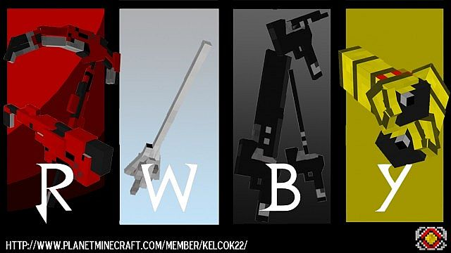 [1.6.4] RWBY Craft Mod Download